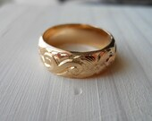 14K gold filled Heavy Pattern Band Ring
