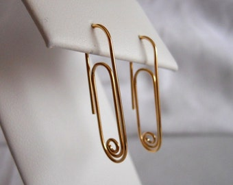 Paper Clip Earrings 14k Gold Filled