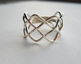 Braid Ring 925 Sterling Silver
