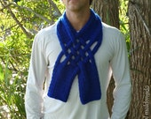 Knit Pattern Scarf Weave PDF - neckwarmer fashion fall UNISEX - men scarves knit PHOTO tutorial