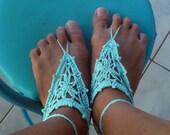 Barefoot Crochet Sandals Pattern - PDF easy crochet summer pattern - beach cool fashion hot Woman accessory - instant download