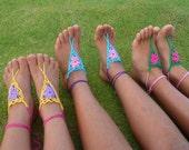 Barefoot Childs Crochet Pattern Sandals for Girl - PDF easy crochet summer pattern - girl beach accessory pattern - Instant Download