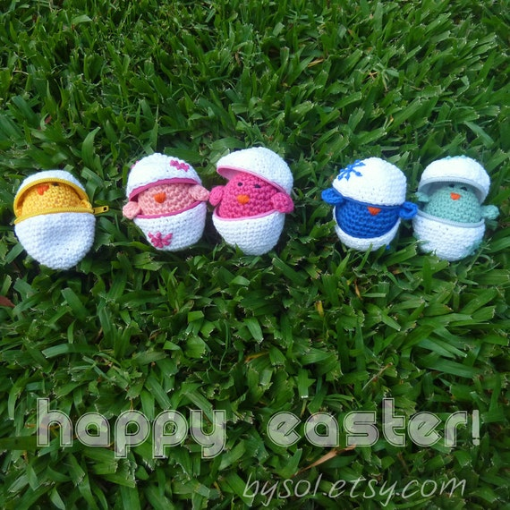 Easter Crochet Pattern PDF -  playful egg box TOY kids - Instant DOWNLOAD