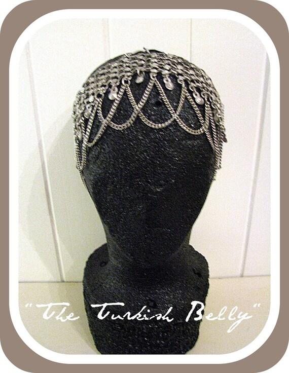 "A Chain Halo Headdress  Headpiece- ""The Turkish Belly Mrk 11"""
