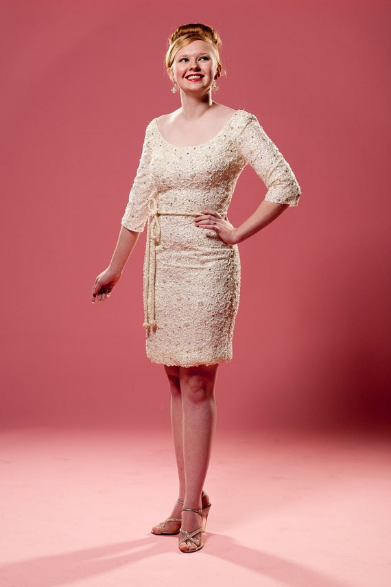 vintage 1960s beaded wedding dress haute couture coat