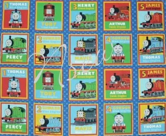 Thomas the tank engine quilting fabric vancouver