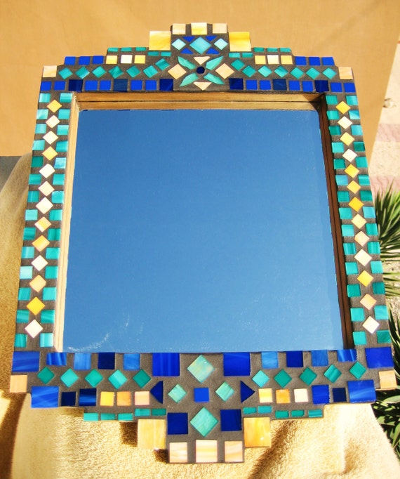 Stained Glass Mosaic Tile Mirror