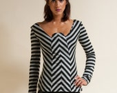 Long Sleeve Knit Top - Charlie Top - also  available in solid Black, and Gray