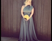 Floor Length Full Skirt Infinity Convertible Wrap Dress...Available in 37 Colors ... Prom, Bridesmaids, Budget Wedding Dress