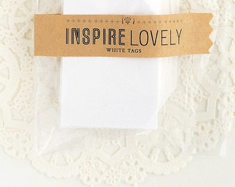 As seen in Country Living - 20 Mini Gift Tags -  Paper Goods