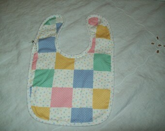 Baby Bib,  ABC print cotton, for Infant or Toddler, Last Minute Gift, Ready to Ship