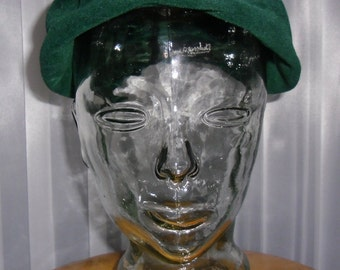 Vintage Hat - Hunter Green - Flamand - Made in Italy - Genuine Imported Velour by La Familiare - Imported by Henry Pollak, Inc. - New York