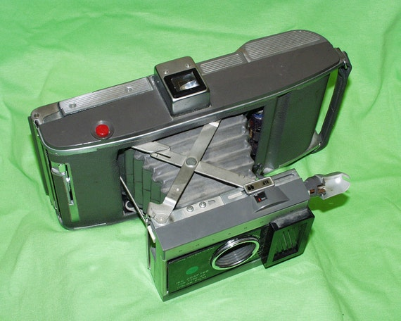 Polaroid J66 Land Camera with Green Dot Adapter for Type 48 Color Film