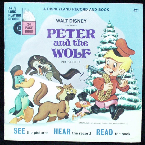 Disneyland Record Book 321 Peter and the Wolf Vinyl Record 1968