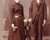 Never Too Old To Fall In Love- Victorian Couple- 1800s Vintage Cabinet Photograph