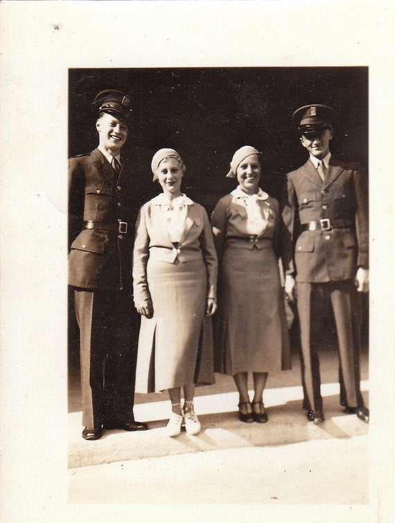 Men in Kemper Military Uniforms- 1930s Vintage Photograph