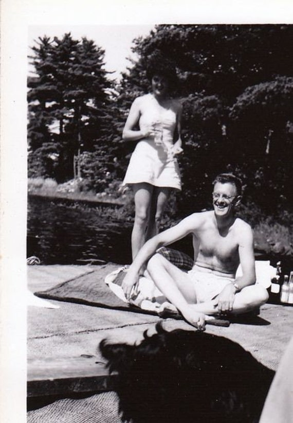 Whoops Try That Again- Funny Photo Mess-up- 1940s Vintage Photograph