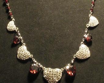 Glamorous rhinestone and Swarrovski crystal hearts