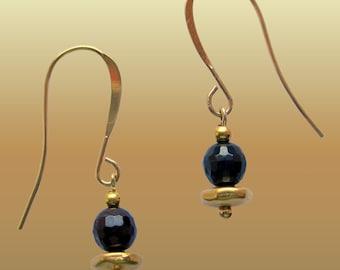 Red Purple Garnet Natural Gemstone Dangle Elegant  Earrings Petite xS Purple