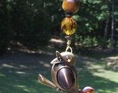 Songbird Ceiling Fan Pull with Genuine Tigers Eye Genstone