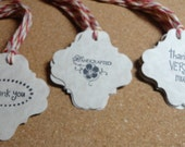 Hand Stamped Tags, Thanks Very Much, Handcrafted