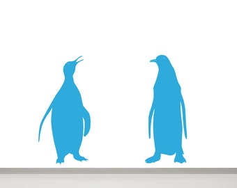 Penguin wall decals | Etsy