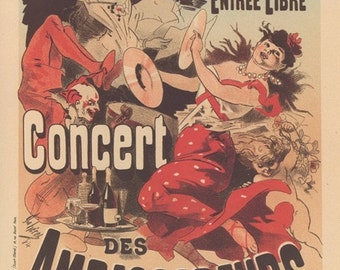 """French Poster Art, Paris Theater Of Renaissance Putting On The Play """"Woman Of Samaria"""", And Paris Les Ambassadeurs A General Play House"""