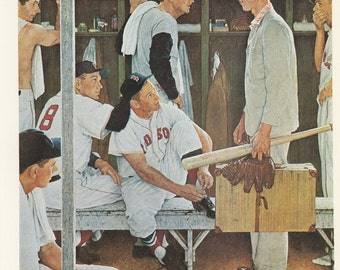 Norman Rockwell, New Man On The Team, Baseball, Post Magazine Cover, Usa, America's Painter, Represents The Family Of 50's 60's 70's