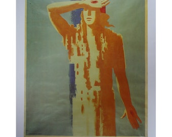 Vintage Paul Colin Poster, Art Person Holding Pierced Hand To Forehead, Vintage Poster Print, Jack Rennert, USA,1977