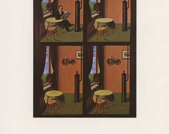 Now You Don't, Rene Magritte, Antique Print, USA, 1972