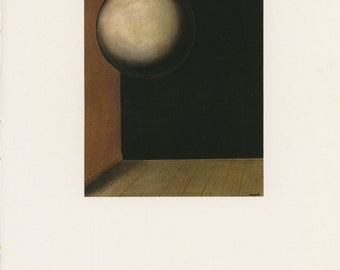 The Secret Life, Moon In A Room, Rene Magritte, Antique Print, USA, 1972