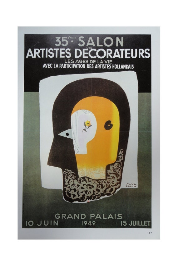 Vintage Paul Colin Poster, Artistic Decorators And Black Dancers, Vintage Poster Print, Jack Rennert, USA,1977