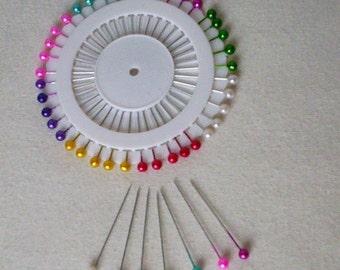 Wedding supplies 80 Corsage Pins multi color 80 pearl pins Bridal craft Bouquets DIY Bride floral supply Do it Yourself  boutonnieres brooch