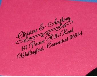 Elegant Wedding Return Address Stamp, Self Inking Wedding Stamp, Calligraphy, House Warming Gift, Mother's Day Gift, Bridal Shower Gift