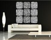 Zebra Stripes Vinyl Decal Wall Art Print, Animal Prints, Animal Wall Decals
