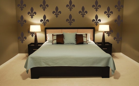 Fleur De Lis Vinyl Wall Decal Wallpaper