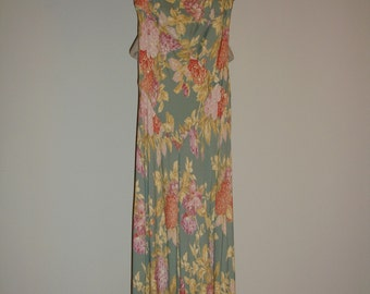 Vintage Carol Little Floral Summer Dress