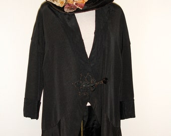 Antique Victorian Edwardian Wool Jacket Coat, circa 1910s
