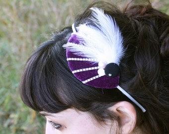 high society headpiece - plum