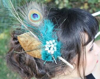 feathered frivolity headpiece