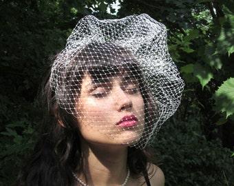 glamorous net birdcage veil