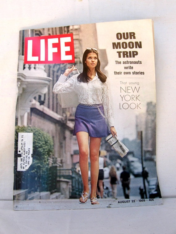 1960s LIFE Magazine Our Moon Trip That Young New York Look August 22nd 1969