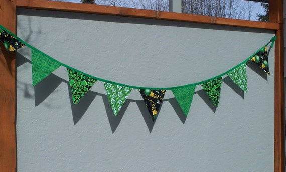 Custom Listing for Debbie - CLEARANCE St. Patrick's Day Pennant Banner, Lucky Green Banner