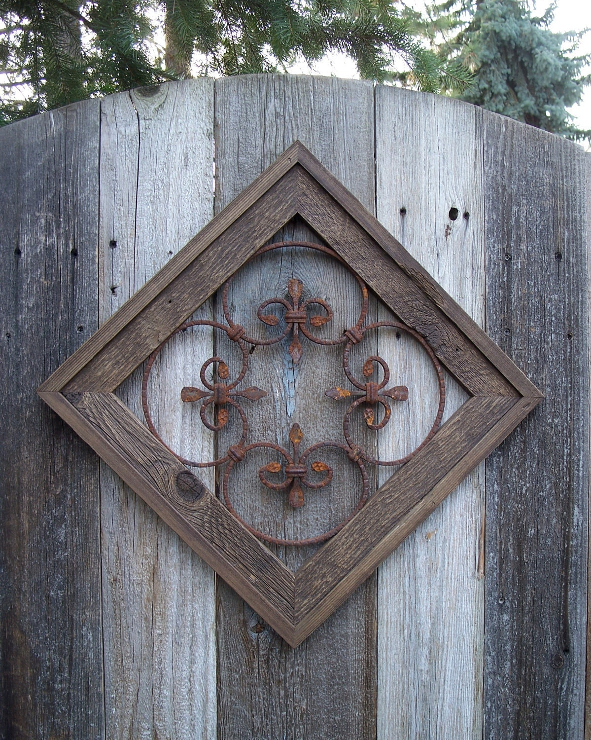 Country Chic Wall Decor Rustic Framed Steel Wall Decor For