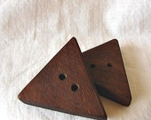 Triangle Walnut Wooden Buttons