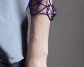 Geometric bracelet in cosmic purple