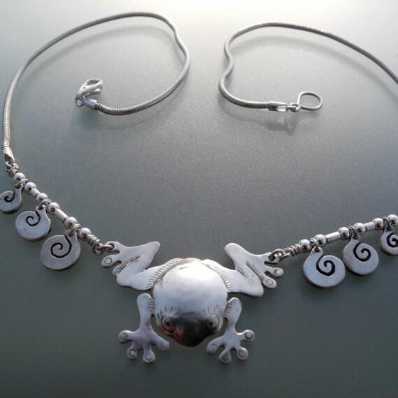 Frog-Splash Necklace II - sterling silver