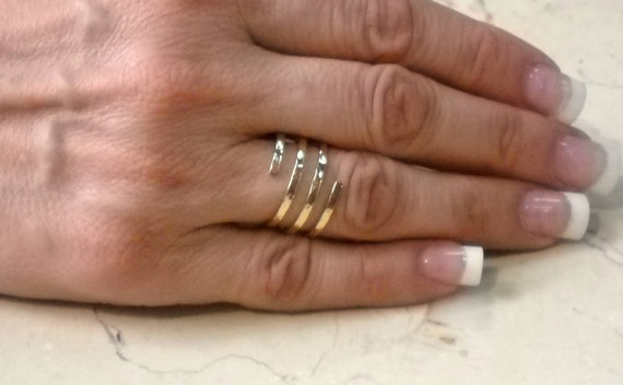Spiral Ring 14K Yellow Gold Filled Handcrafted