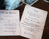Handwritten Letter Wedding Invitations /// Mr Darcy Love Note. Jane Austen /// Pride and Prejudice Inspired Weddings