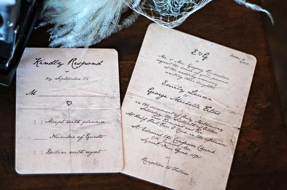 Invitation Note For Wedding: Handwritten Letter Wedding Invitations /// Mr By